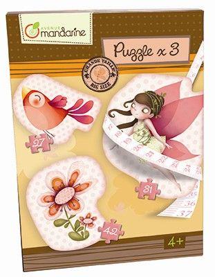 Avenue Mandarine Velké puzzle 3v1 Víly cena od 420 Kč