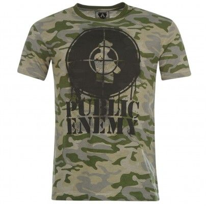 Amplified Public Enemy Camouflage triko