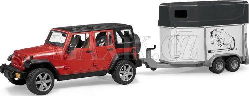 Bruder Jeep Wrangler Unlimited Rubicon s přívěsem na koně 02926 cena od 798 Kč