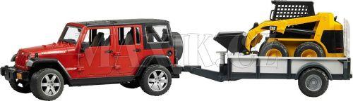 Bruder Jeep Wrangler Unlimited Rubicon s valníkem a nakladačem 02925
