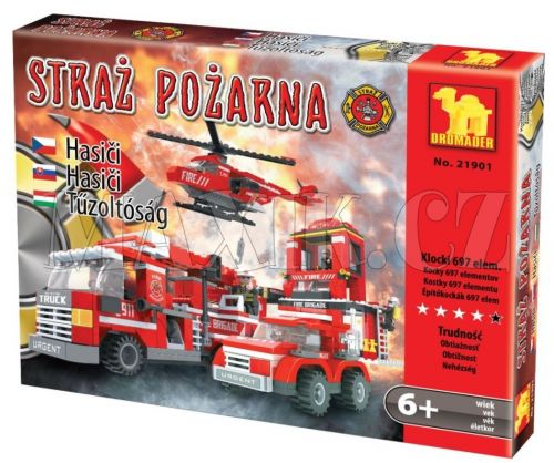 Dromader Hasiči Auto,Vrtulník,Stanice 21901