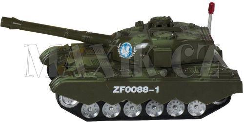 Teddies Tank narážecí se zvukem a světlem 25 cm cena od 155 Kč