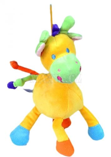 Teddies Žirafa chrastítko plyš 22 cm cena od 96 Kč