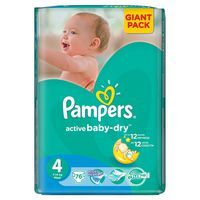 Pampers Active Baby-dry 4Maxi 76 ks