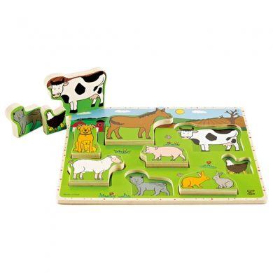 HAPE Vkládací puzzle Zvířátka ze statku cena od 278 Kč