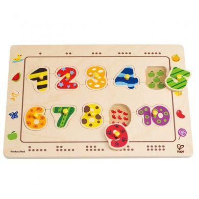 HAPE Vkládací puzzle s čísli cena od 0 Kč