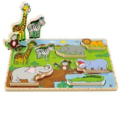 HAPE Vkládací puzzle Zvířátka z džungle cena od 0 Kč