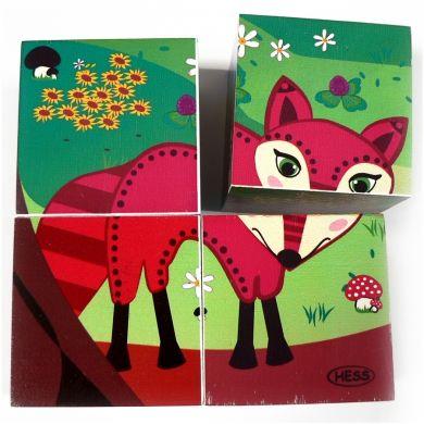 HESS Obrázková kostka lesní zvířátka cena od 260 Kč