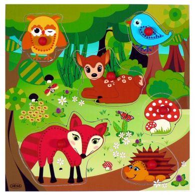 HESS Puzzle s úchopy lesní zvířátka cena od 195 Kč