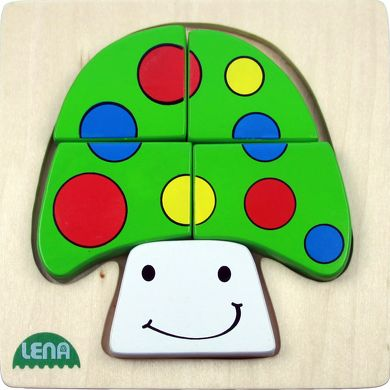 LENA Dřevěné puzzle houba cena od 98 Kč