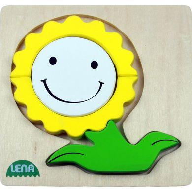 LENA Dřevěné puzzle květina cena od 120 Kč