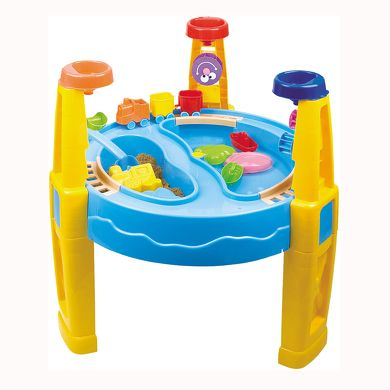 BIECO Kulatý stůl písek/voda
