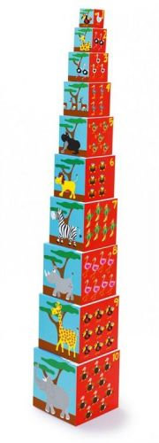 Scratch Skládací pyramida Zvířátka cena od 489 Kč