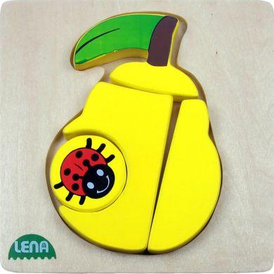 LENA Dřevěné puzzle hruška 4 díly cena od 122 Kč