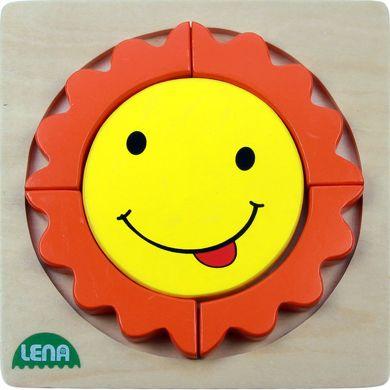 LENA Dřevěné puzzle sluníčko 5 dílů cena od 126 Kč