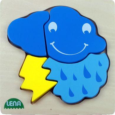 LENA Dřevěné puzzle mrak 4 díly cena od 126 Kč