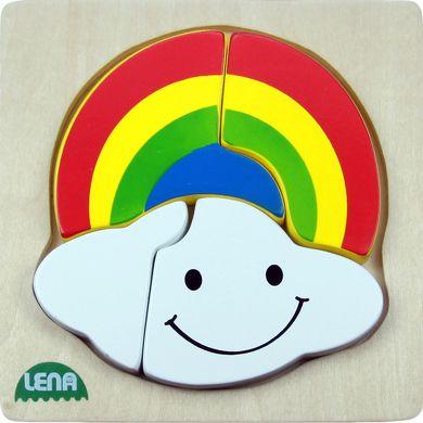 LENA Dřevěné puzzle duha 4 díly cena od 120 Kč
