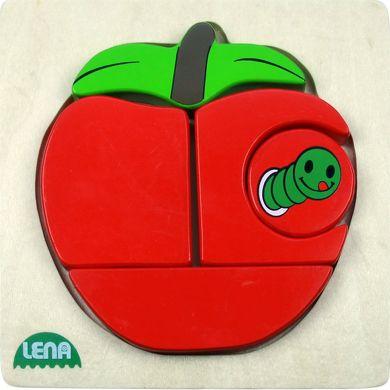 LENA Dřevěné puzzle jablko 4 díly cena od 120 Kč