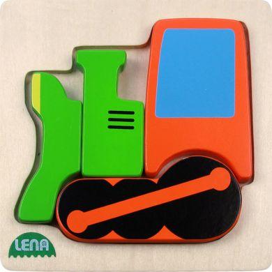 LENA Dřevěné puzzle lokomotiva 4 díly cena od 126 Kč