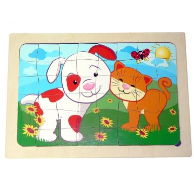 HESS Puzzle Pes a kočka cena od 0 Kč