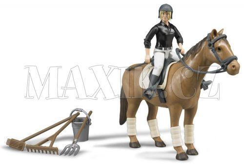 Bruder Set kůň s jezdkyní a příslušenstvím cena od 389 Kč