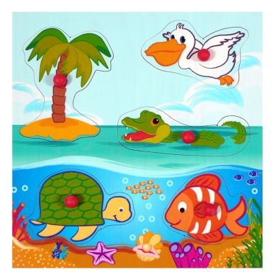 HESS Puzzle s úchopy Mořská zvířátka cena od 195 Kč