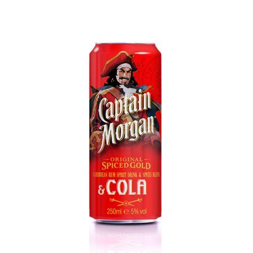 Captain Morgan Original Spiced Gold & Cola 0,25 l cena od 59 Kč