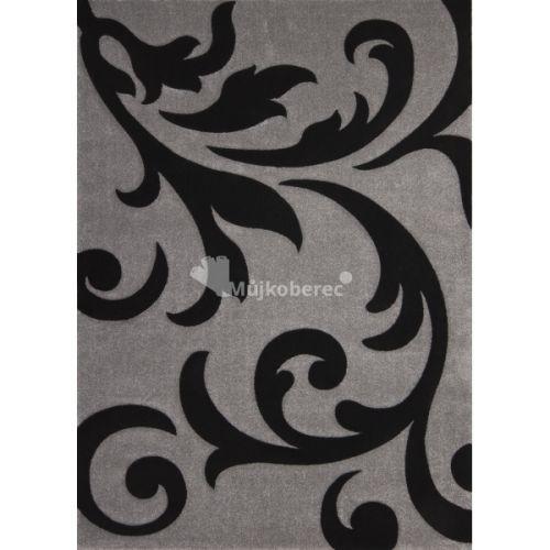 Lalee Lambada LAM 451 stříbrno-černý koberec