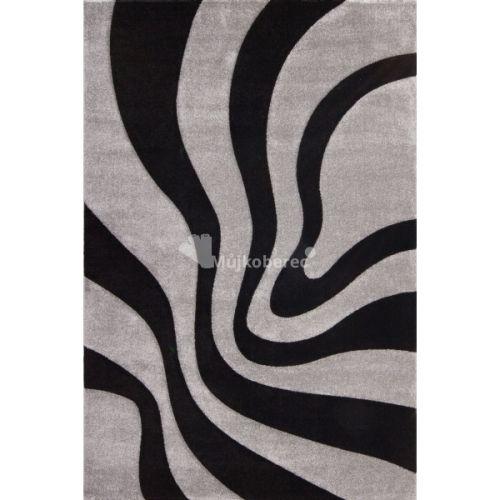 Lalee Lambada LAM 452 černo-stříbrný koberec