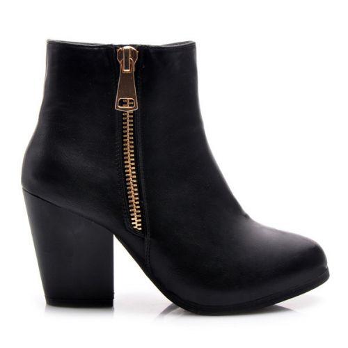 AMERICAN CLUB Parádní kotníčkové boty s módním zipem