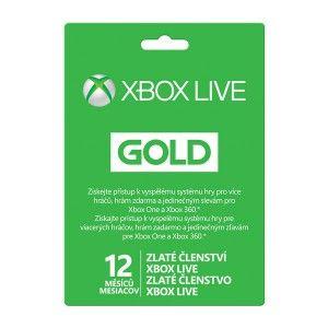 Microsoft Xbox LIVE Gold zlaté členství 12 měsíců