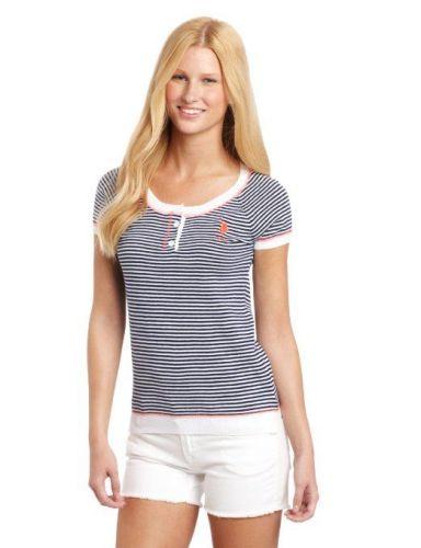 U.S. Polo Assn. Striped Henley svetr