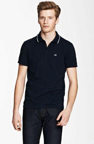 Armani Exchange Signature A|X Short Sleeve Polo triko