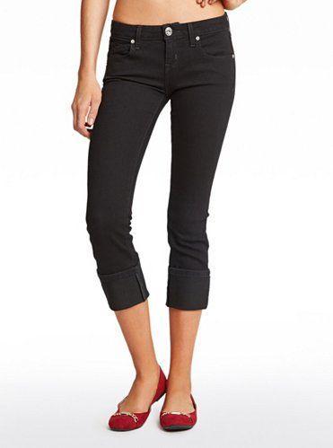 GUESS Albee Cuffed Capri Jeans kalhoty