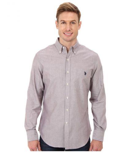 U.S. Polo Assn. Long Sleeve Solid Oxford Button Down košile