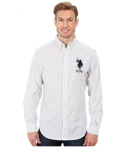 U.S. Polo Assn. Vertikal Stripe Poplin Long Sleeve Sport košile