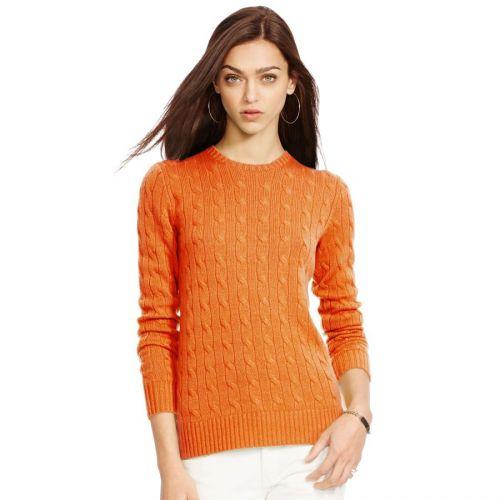 Ralph Lauren Slim Fit Cabled Cotton svetr