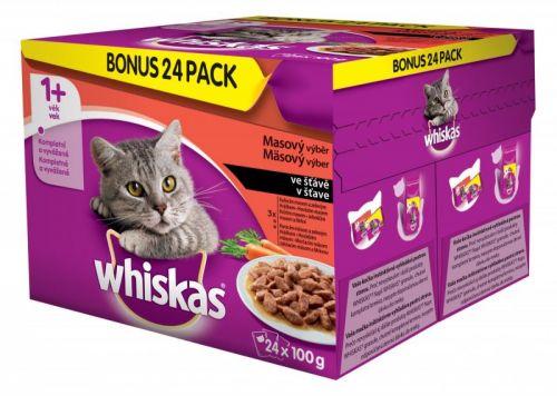 Whiskas Masový výběr se zeleninou BONUS 24 pack