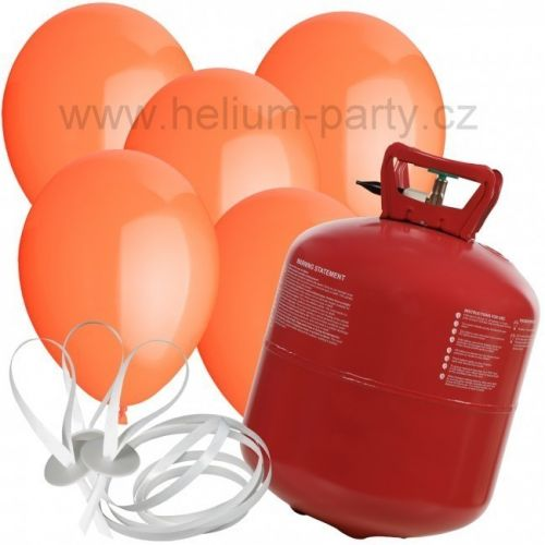 Worthington Industries EU Helium Balloon Time + 50 oranžových balónků