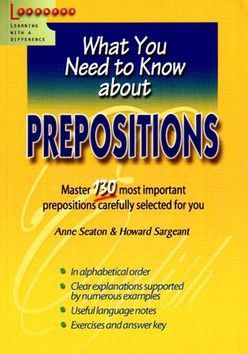 Anne Seaton, Howard Sargeant: Prepositions cena od 317 Kč