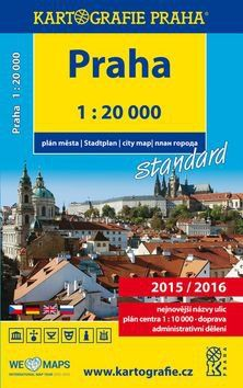 Kartografie PRAHA Praha plán města 1:20 000 cena od 111 Kč