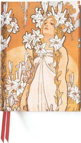 Zápisník Flame Tree Mucha The Flowers Lily cena od 159 Kč