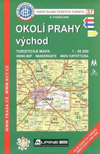 KČT 37 Okolí Prahy východ 6.vyd. cena od 60 Kč