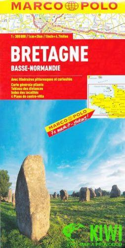 Bretaň, Normandie západ/ mapa 1:300T MD cena od 178 Kč