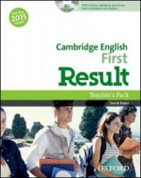 D. Baker: Cambridge English First Result Teacher´s Book with DVD cena od 561 Kč