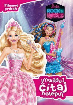 EGMONT Barbie Rock ´n Royals Vyfarbuj, čítaj, nalepuj cena od 107 Kč