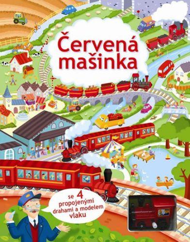 Svojtka Červená mašinka se 4 propojenými drahami a modelem vlaku cena od 383 Kč