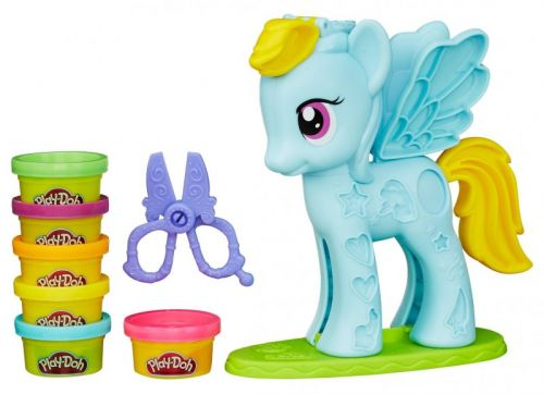 Hasbro Play-Doh Play-Doh MLP rainbow dash stylistický salón cena od 269 Kč