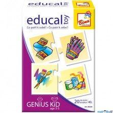 BINO Didaktická hra Educal Toy, Co patří k sobě?