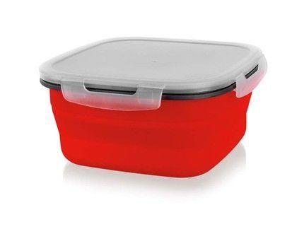 BANQUET CULINARIA RED miska skládací s víčkem 1900 ml, 19,5x19,5x9,3 cm cena od 158 Kč